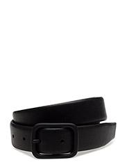 M. Tonal Leather Belt - BLACK