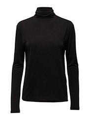 Glitter Rollerneck Top - BLACK