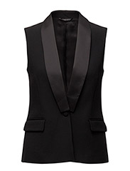 Tailored Tuxedo Vest - BLACK