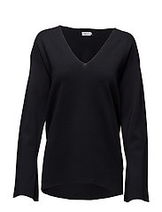 Sharp Milano V-Neck Pullover - NAVY