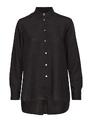 High-low Tencel Shirt - BLACK