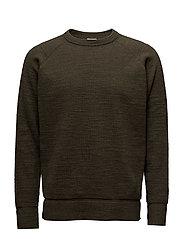 M. Slub Knit Sweatshirt - AIR FORCE