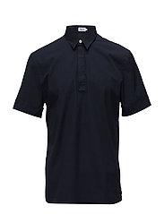 M. Peter Poplin Polo Shirt - NAVY
