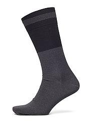 M. Mercerised Cotton Sock - BLACK/ BLA