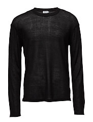 M. Relaxed Light Knit Sweater - BLACK