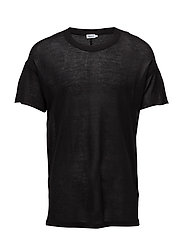 M. Relaxed Light Knit Tee - BLACK