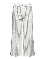 Flyn Cropped Stripe Pants - OFFWHITE/N