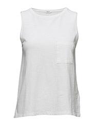 Cotton Linen Tank - WHITE