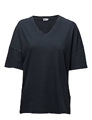 Cotton Linen Tee - NIGHT