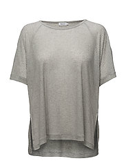 Rib Jersey Top - LIGHT GREY