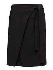 Lan Wrap Skirt - BLACK