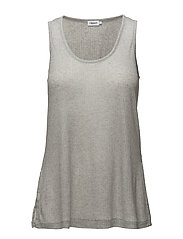 Rib Jersey Tank - LIGHT GREY
