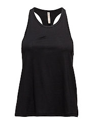 Racer Back Tank - BLACK