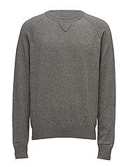 M. Wool Elastane Sweatshirt - GREY MEL.