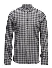 M. Pierre Check Shirt - DK. GREY M