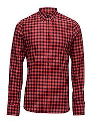 M. Pierre Check Shirt - NAVY/FIERC