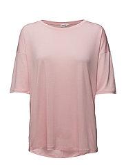 Elbow Sleeve Swing Top - ROSE BUD