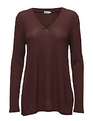 Deep V Jersey Blouse - FIG
