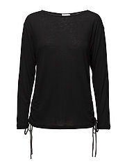 Drawstring Top - BLACK