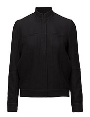 Boiled Wool Denim Jacket - BLACK