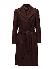 Eden Belted Coat - FIG