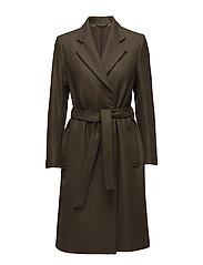 Eden Belted Coat - OLIVE