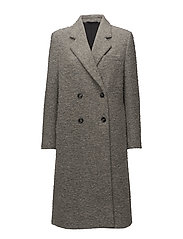 Edine Shaggy Tailored Coat - GREY MEL.