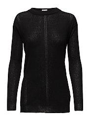 Delicate Rib Pullover - BLACK
