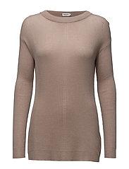 Delicate Rib Pullover - FAWN