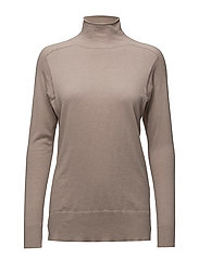 Mock Neck Pullover - FAWN