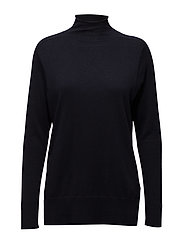 Mock Neck Pullover - NAVY