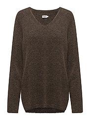Multi V-Neck Pullover - MULTI OLIV