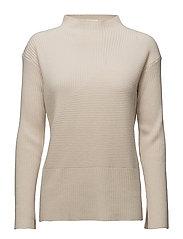 Diagonal Rib Pullover - CHALK
