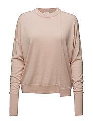 Asymmetric Drapey Pullover - BLUSH