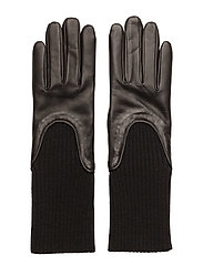 Wool Rib Glove - BLACK