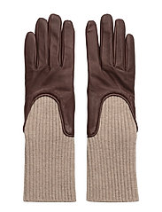 Wool Rib Glove - BORDEAUX