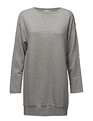 Drapey Felpa Sweater - LIGHT GREY