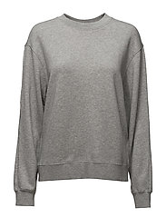 Drapey Sweatshirt - LIGHT GREY