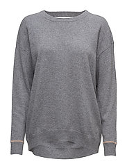 Cashmere Sweater - GREY MEL.