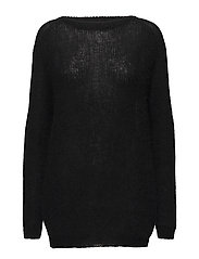 Maxi Mohair Sweater - BLACK
