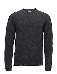 M. Wool Yak Sweater - DK. GREY M