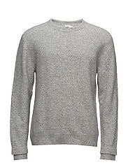 M. Wool Yak Sweater - LIGHT GREY