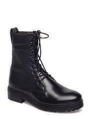 Georgie Laced Boot - BLACK