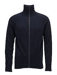 M. Cotton Merino Zip Jkt - NAVY