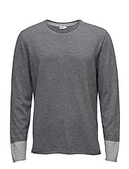 M. Cotton Merino Roll edge Swe - GREY MEL./
