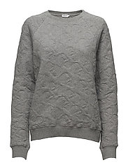 Boyfriend Quilted Sweatshirt - GREY MEL.