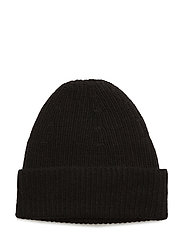Rib Knit Hat - BLACK