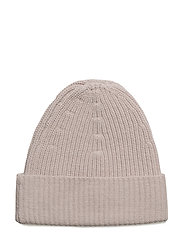 Rib Knit Hat - PEBBLE