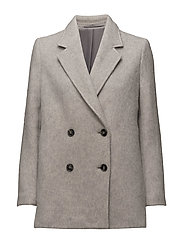 Leigh Plush Peacoat - GREY MEL.