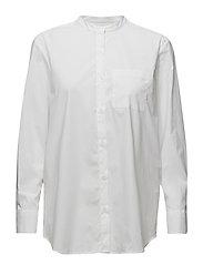 Back Button Shirt - WHITE